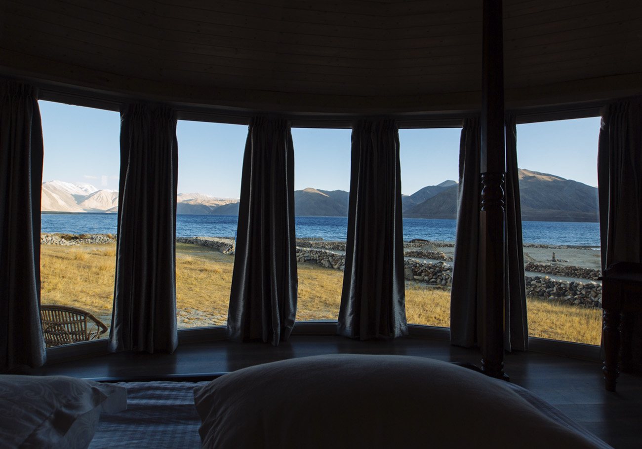View from the bed at first light