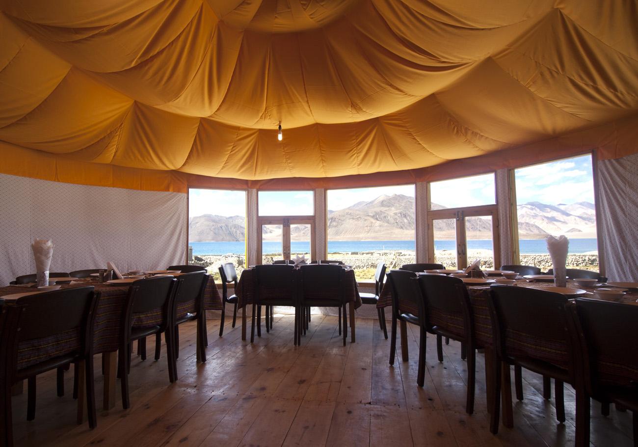 Dining area at pangong Superior