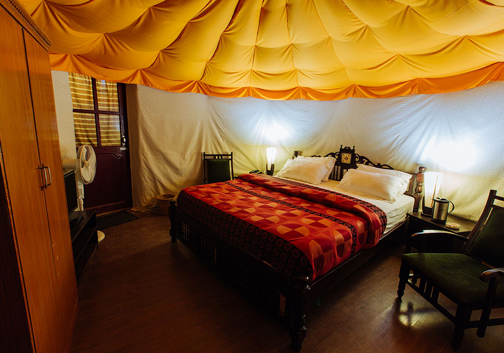 Accomodations at Delux rooms at Hunder sarai