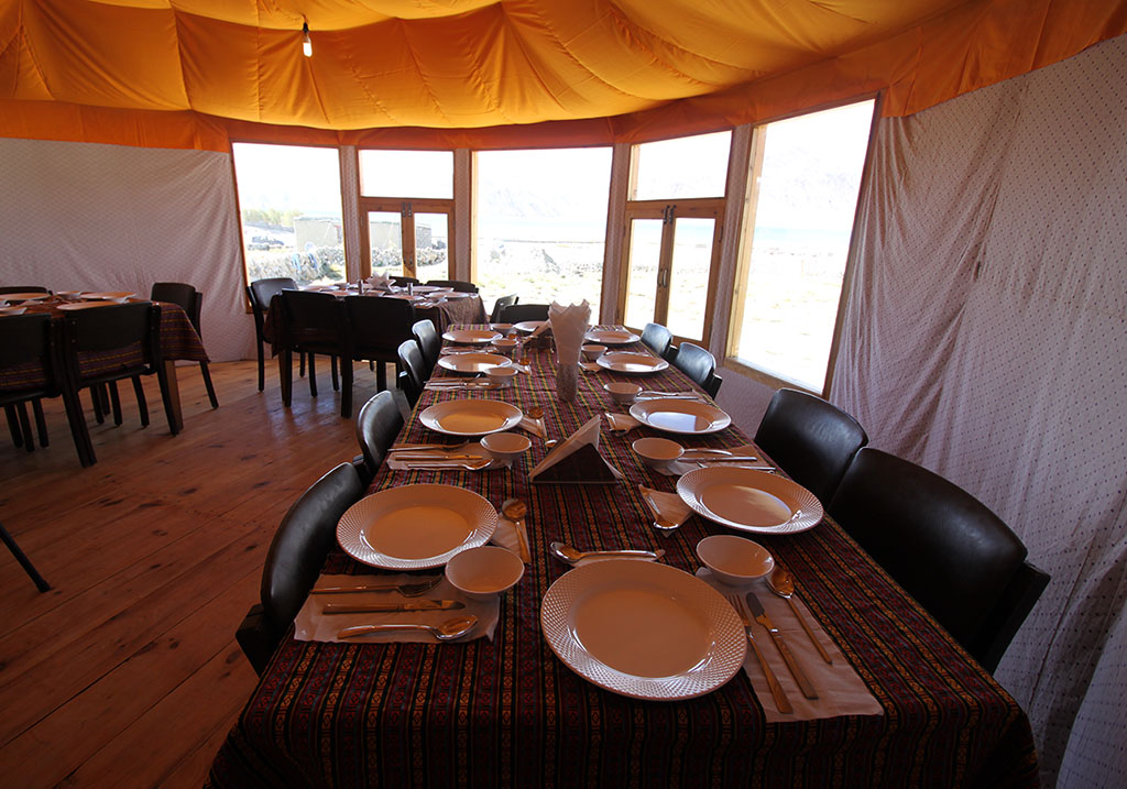 Dining area at Pangong Sarai