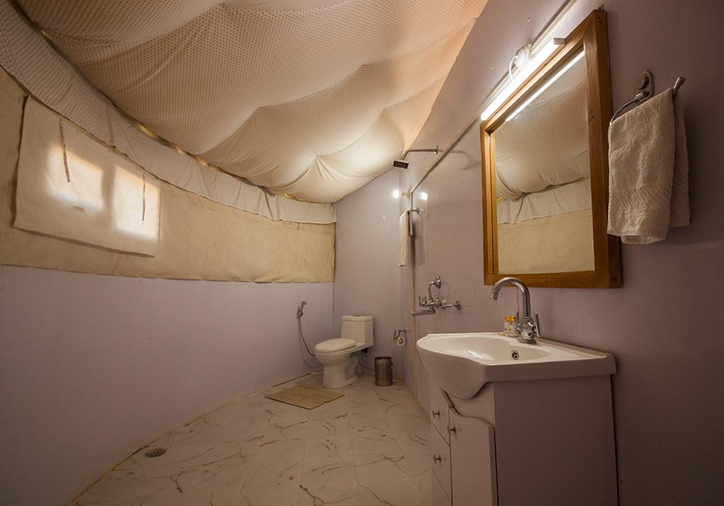 Bathroom facility at the Pangong Superior