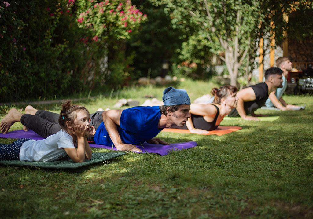 Yoga session at the Sarai