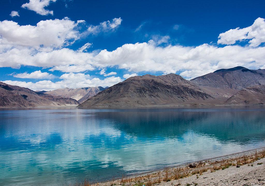 View of pangong lake